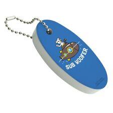 Sub Woofer Dog Submarine Funny Humor Floating Foam Keychain Fishing Boat Buoy