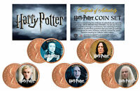 Harry Potter * VILLAINS * Colorized UK British Halfpenny 5-Coin Set * Licensed *