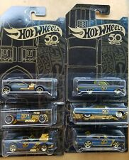 2018 Hot Wheels 50th Anniversary Black and Gold Complete set of 6 New/Sealed