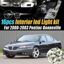 16Pc White Car Interior LED Light Bulb Kit for 2000-2003 Pontiac Bonneville