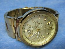 Men's MICHAEL KORS Water Resistant Gold Chronograph Watch w/ New Battery