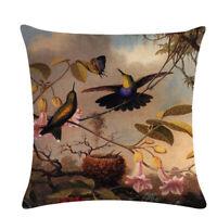 Home textile Bird Soft Linen Cushion Cover Pillowcase Decor Pillow Cover G
