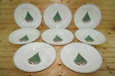 """Salem Noel Christmas Tree (8) Rimmed Soup Bowls, 9"""""""