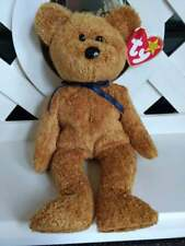 "TY Beanie Baby ~ FUZZ Brown 9"" Bear ~ NEW with Tags Retired with PE Pellets Soft"
