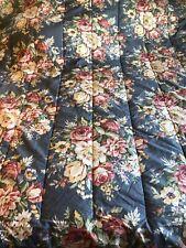 Vintage Ralph Lauren Kimberly King Comforter Blue Floral EUC