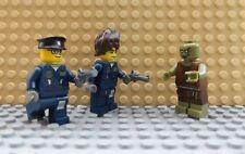 Nuevo LEGO 3 Mini Figuras 2 policías & Pistola escena de televisión de Zombies Walking Dead