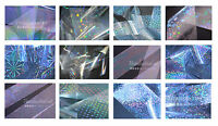 """All translucent""  Transfer Nail Foils set - ALL 12 pcs 20 cm each"