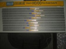 10 PIECES PECO NICKLE/SILVER FLEXTRACK CODE 75 HO SCALE  (LOT 235)