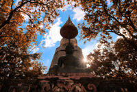 Big Buddha Temple in Chiang Mai Thailand Photo Art Print Poster 18x12 inch
