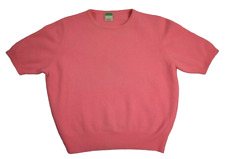 Vtg 80s United Colors of Benetton Short Sleeve Sweater Womens Small Pink Italy B
