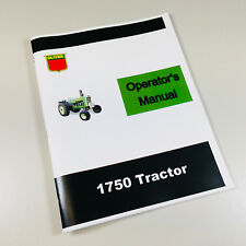 OLIVER 1750 TRACTOR OWNERS OPERATORS MANUAL MAINTENANCE