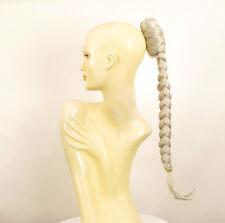 Hairpiece ponytail plait long 19.69 white ref 4 60 peruk