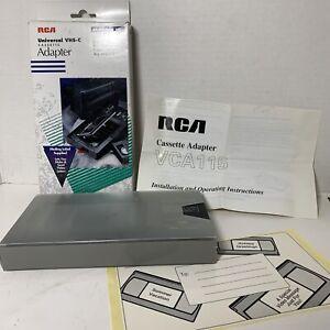 Universal VHS-C Camcorder Cassette Adapter Motorized VCA115 RCA EUC