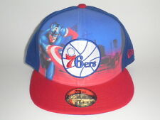 Philadelphia 76ers MARVEL CITY Captain America Hat 7 3/8 ($35) Cap NBA New Era
