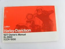 NOS 1977 AMF HARLEY-DAVIDSON OWNERS MANUAL XL-1000 XLCH-1000 SPORTSTER New