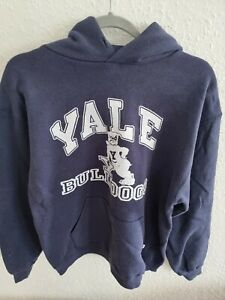 Vintage Russell Athletic x 'Yale University' Hoodie - Navy - Large
