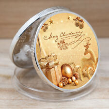 Silver Coin Commemorative Merry Christmas Challenge Plated Coins New Year Gifts
