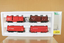 TRIX EXPRESS 31358 AC DB NS CARGO COIL TRANSPORT WAGON SET MINT BOXED nj