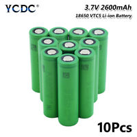 10Pcs VTC5 30A High Drain 18650 Li-ion Battery 2600mAh For Torch Electric Toy 6