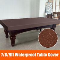 7/8/9 FT Pool Snooker  Billiard Table Cover Fitted Heavy Duty Waterproof Dust