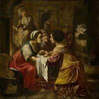Flemish Renaissance Religious Old Master Saint 1600's Large Antique Oil Painting