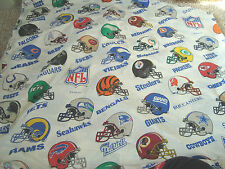 NFL Helmets Twin Flat Bed Sheet Or For Fabric Material For Crafts Sheets Sheet