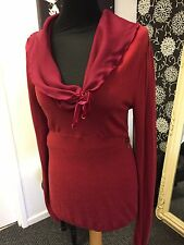 FORNARINA rouge/bordeaux pull femme