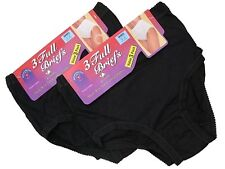 3 Ladies Full Mama 100% Cotton Briefs Knickers Underwear / All Sizes