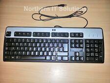 Job Lot of 5 x HP Black Silver USB Standard Keyboard KU-0316 UK QWERTY