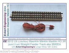 "EE 5012 LN LikeNew Marklin HO 3 Rail Straight Feeder Track aka 3600DA 120""Wire"