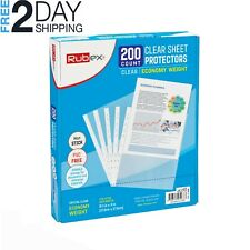 200 Sheet Protectors Holds 85 X 11 Inch Sheets