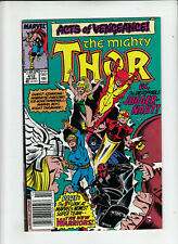 The Mighty Thor #412 (Marvel 1989) 1st Full New Warriors Newsstand FN/VF