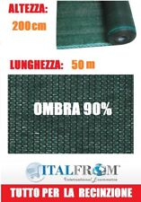 Rete Ombreggiante 90% Telo Ombra 50x2h Frangivento Frangivista Verde Italfrom