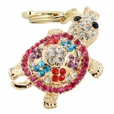 Turtle Keychain Sparkling Keyring Blingbling Crystal Rhinestones Purse Pend E5W8