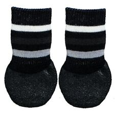1 Pair of Black Dog Socks Anti-Slip Rubber Coated Extra Secure XS-S