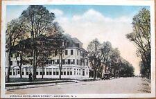Lakewood, NJ 1920 Postcard: Virginia Hotel, Main Street - New Jersey