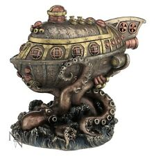 STEAMPUNK SUBMARINE OCTOPUS LEVIATHANS ESCAPE FIGUREINE MODEL RESIN BOX NEW