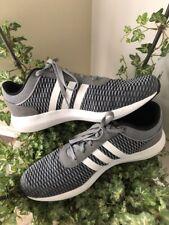 Mens Adidas Cloudfoam Race Running Shoes Black/White/Grey size 14 Shoes~EUC!