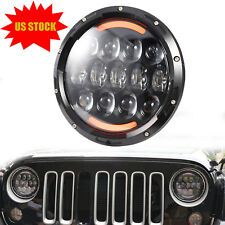 7'' Osram 105W Round LED Headlight Hi-Lo Beam Bulb For Jeep Wrangler JK TJ Black