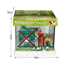 MINI ACQUARIO DOPHIN 12 L KIT CON RETINO FILTRO TERMOSTATO DIGITALE 23X20X25 cm