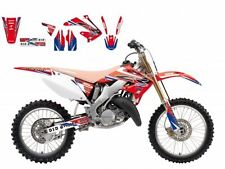 BLACKBIRD HONDA CR 250 2005 KIT GRAFICHE REPLICA HRC 2015 GRAPHICS ROSSO BLU RED