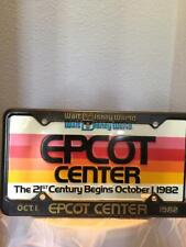 Disney Commemorative Epcot Center Opening Engraved License Plate 1982, Metal
