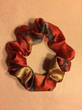 100% Pure Silk Hair Scrunchies Ponytail Holder Hair Ties Elastic Christmas