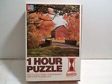 Vintage Milton Bradley One 1 Hour Puzzle HOURGLASS SERIES Autumn Landscape NIB