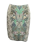 ** Marc Cain ** Stunning Patterned Skirt ** N2 ** Wool / Cotton Stretch **
