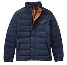 Timberland Men's Mt Davis Waxed Down Jacket, Dark Sapphire. Size:M