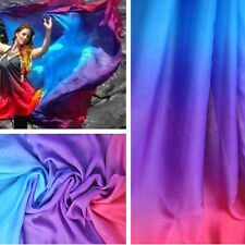 2 Yds 3 Tone Gradient Chiffon Fabric 30D Shade Chiffon Dance Dress Material