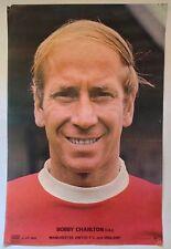 Manchester United 1970's Coffer Poster Bobby Charlton