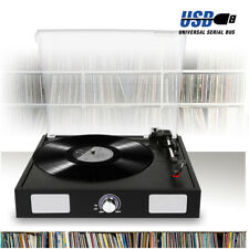 Retro 3 Speed Vinyl Record Player Turntable Built-In Speakers USB *FREE Software