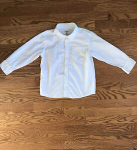 Boys White Button Up - Size 5T - Spring Ready!